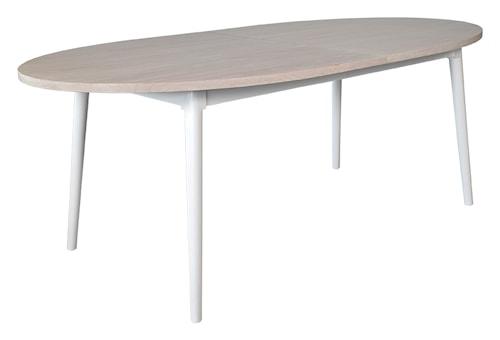 Asperö ovalt matbord med ilägg