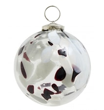 Glass hanger, L, mix w/black, white