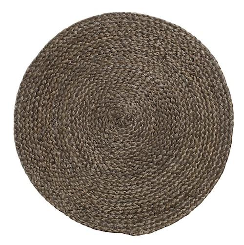 Bordsunderlägg Tan Mörkbrun Jute Ø40 cm