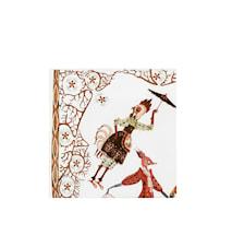 Tanssi Paperisevetti 33x33 cm Valkoinen 20-pack