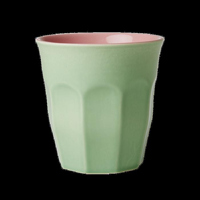 Krus i keramikk Grønn/Rosa