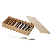 Oscar Pizza/stek-kniv 6 delar