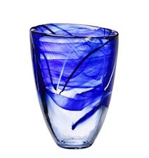 Contrast Blå Vase H: 200mm
