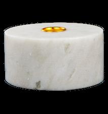Lysestake Hvit marmor 5,5 cm Ø 10,5
