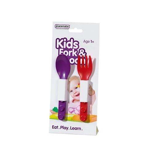 Bestickset för barn 2 delar Lila