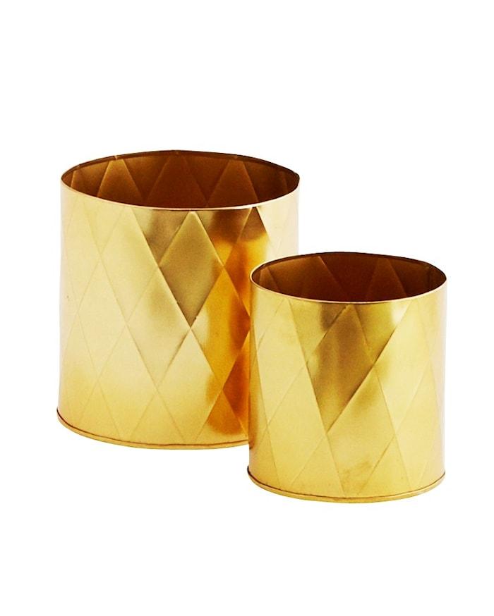 Kruka Ø 10cm Guld