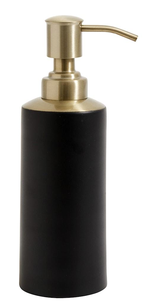 Tvålpump i rostfritt stål - Svart/Mässing