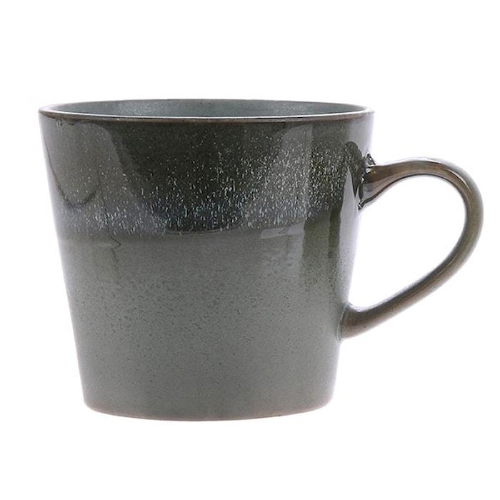 70's Keramik Cappuccino Krus Grøn