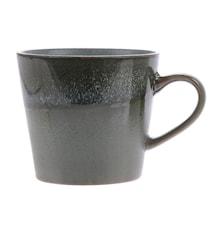 70's Keramikk Cappuccino Kopp Grønn