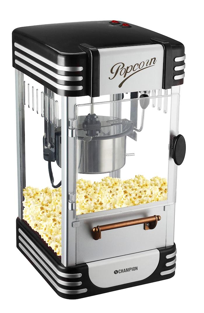 Popcornmaskine Retro Black Edt