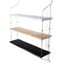 Morse shelve hylle - Carrara/Sand/Black/Brass