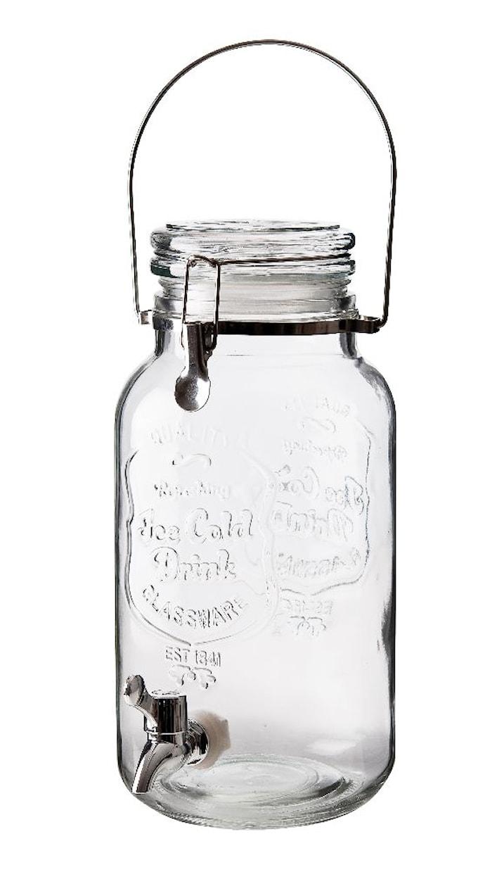 Drikkedispenser med låg håndtag og kran, rummer 4 liter