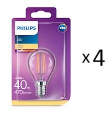 LED Filament E14 40W Klot 4st