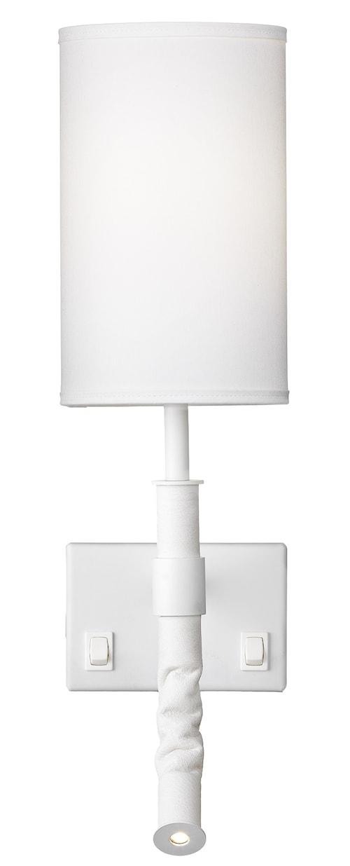 Butler vägglampa - vit med kabel