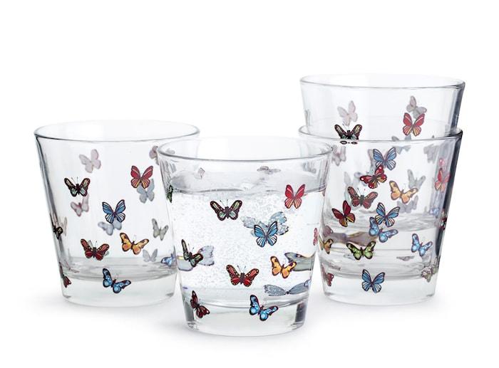Butterfly glas 4-pak