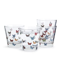 Butterfly Glass 4 Stk