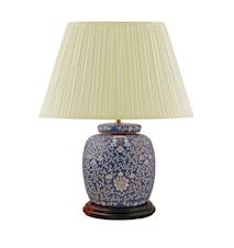Lampfot 22,5cm Arabesque Mönster på blå botten