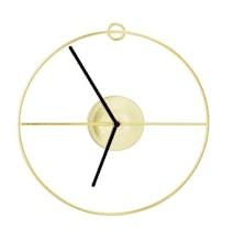 Veggklokke Ø 30 cm - Gull