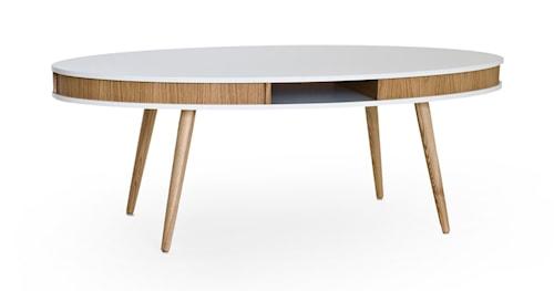 Hugo Soffbord Oval - Vit/Ek