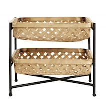 BAMBOO tray, 2 tiers