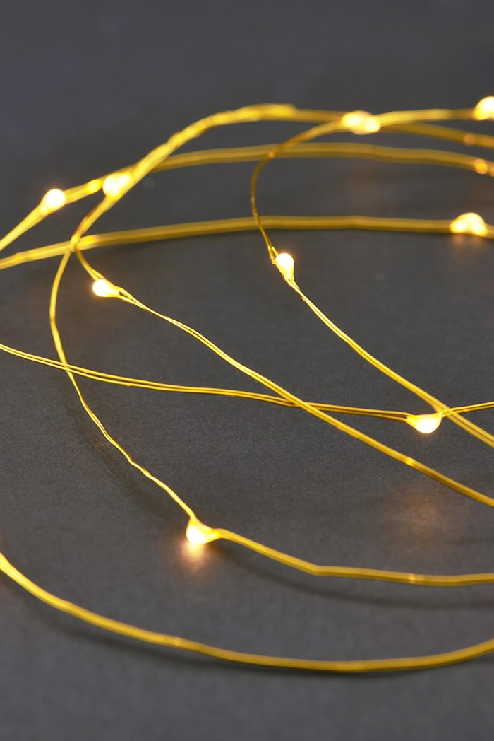 Ljusslinga 80 lampor 10m Mässing