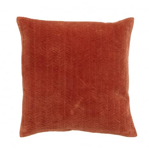 Cushion cover, fine lines, rust, velvet