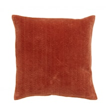 Cushion cover, fine lines, rust, velvet