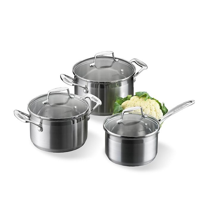 Grytesett 3-del, kasseroller 1,8 L, Gryte 2,5 L & 3,2 L - Impact