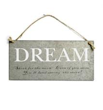 Sign, 'DREAM' w/string