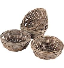 Brödkorg 4 st. Kubu Grey