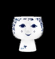 Krukke på fot, Juliane, blå, Ø11 cm