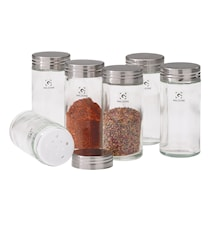 Krydderiglas - m. skruelåg - Glas - Klar - D 4,0cm - H 9,5cm - 0,08l - Stk.