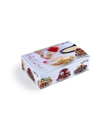 Crépe- & pannekakesett Rød