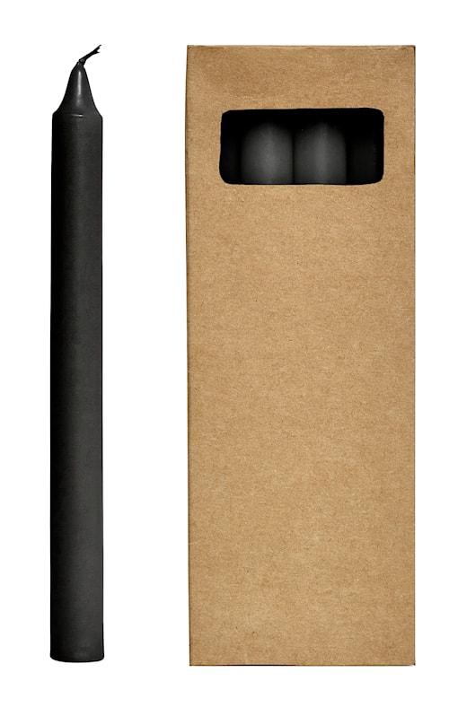 Stearinlys 8st 24 cm - Sort