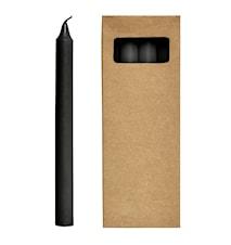 Stearinljus 8st 24 cm - Svart