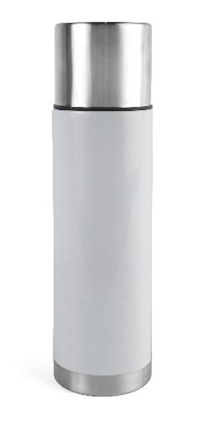 Ståltermos 0,75 L stål/vit