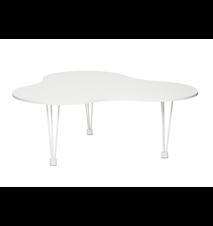 Luna 4 blomma stort sofabord Hvid – Hvide ben