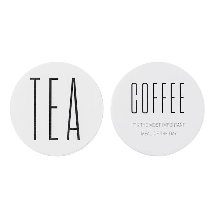 Klistermärke Coffee/Tea 2st