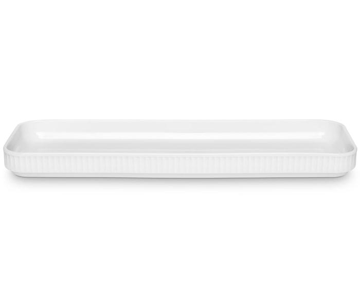 Plissé Tapasfad 36x12 cm Hvid