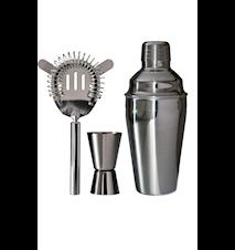 Barsett 3 deler Shaker 0,5 L, målebeger 1-4 cl, drinksil