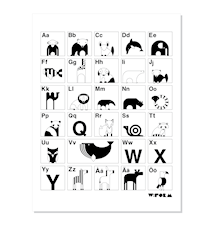 ABC poster – Svart/vit