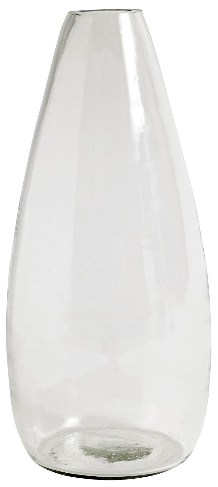 glassvase klar glass 28 cm - Transparant