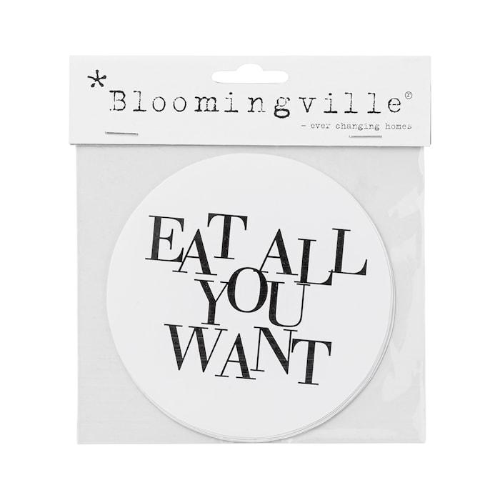 Klistermärke Eat All You Want