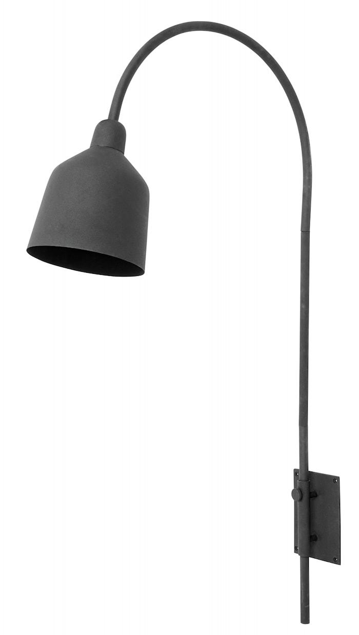 CITY Vegglampe Matt Sort