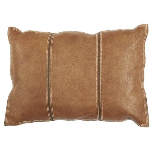 Pure leather Kuddfodral 35x50 - Ljus brun