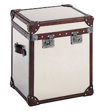 London trunk - Brushed steel