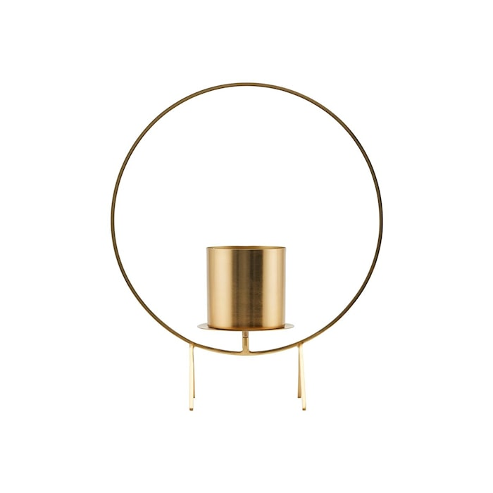 Lysholder Circle Brass 40 cm