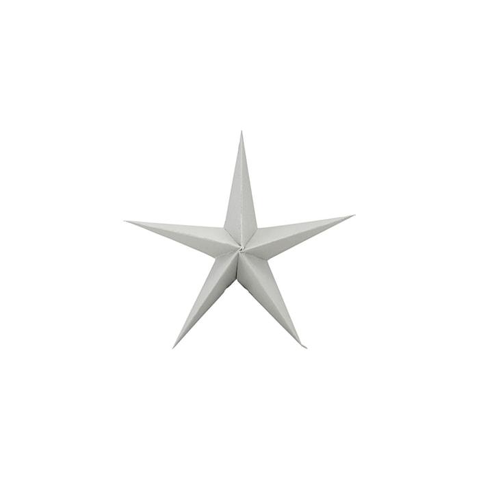 Juldekoration Star 3 st - Grå