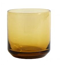 RETRO drinking glass, amber