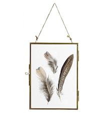 Metal frame, hanging, gold, S